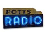 Potts Radio Double-Sided Neon Sign - $