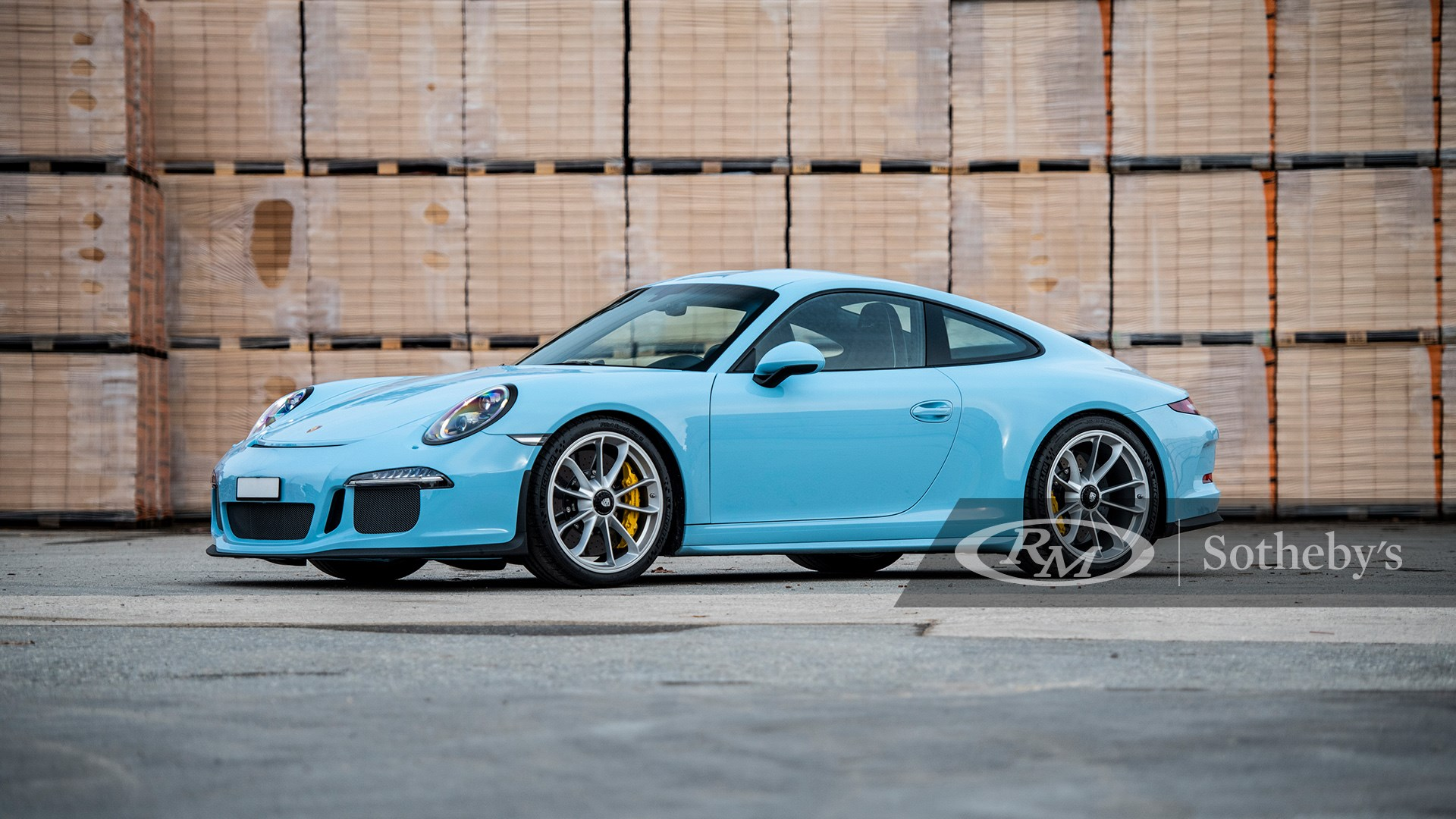 Paint-to-Sample Gulf Blue 2016 Porsche 911 R available at RM Sotheby's Online Only Open Roads February Auction 2021
