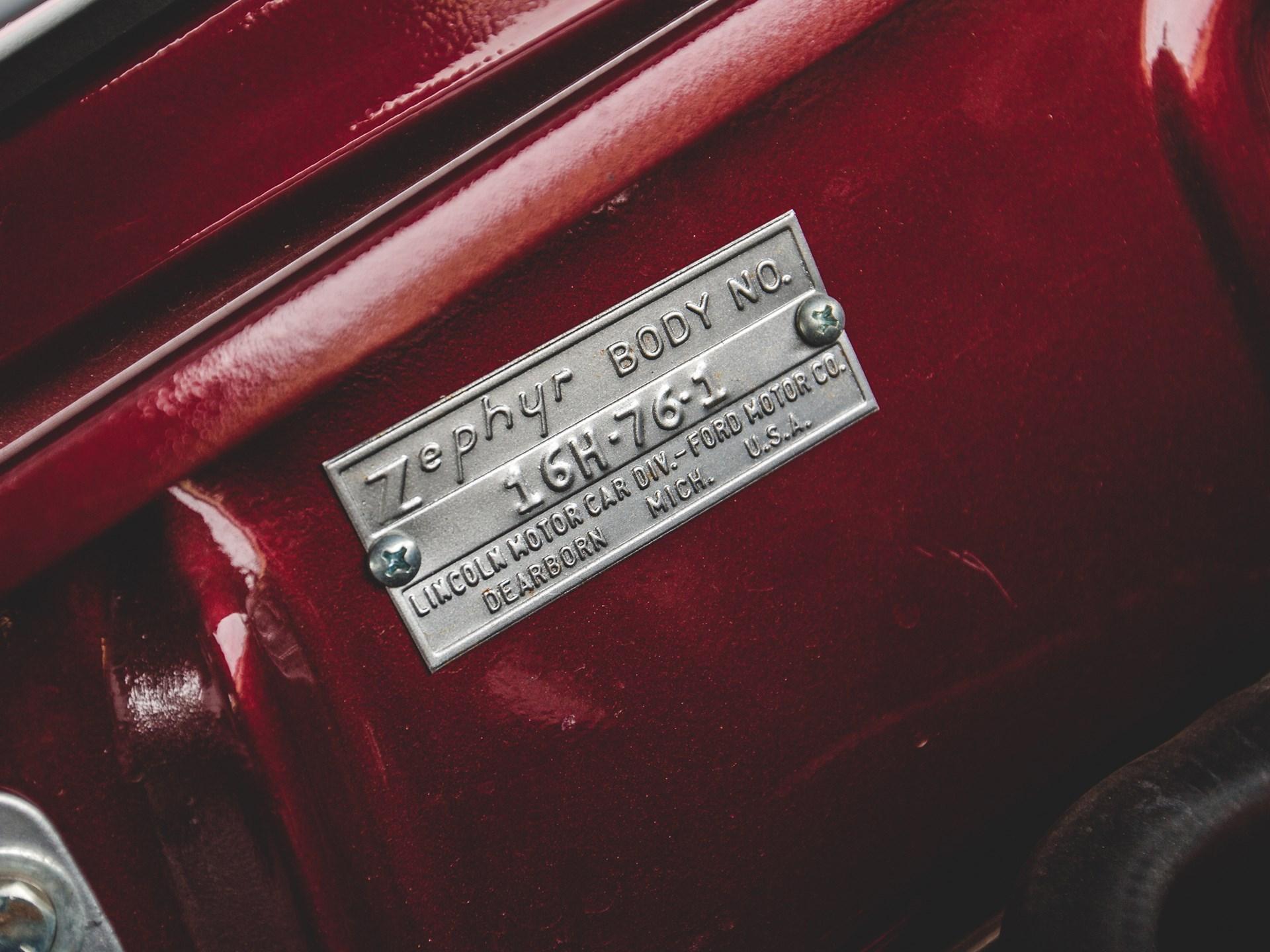1941 Lincoln Zephyr Convertible Custom
