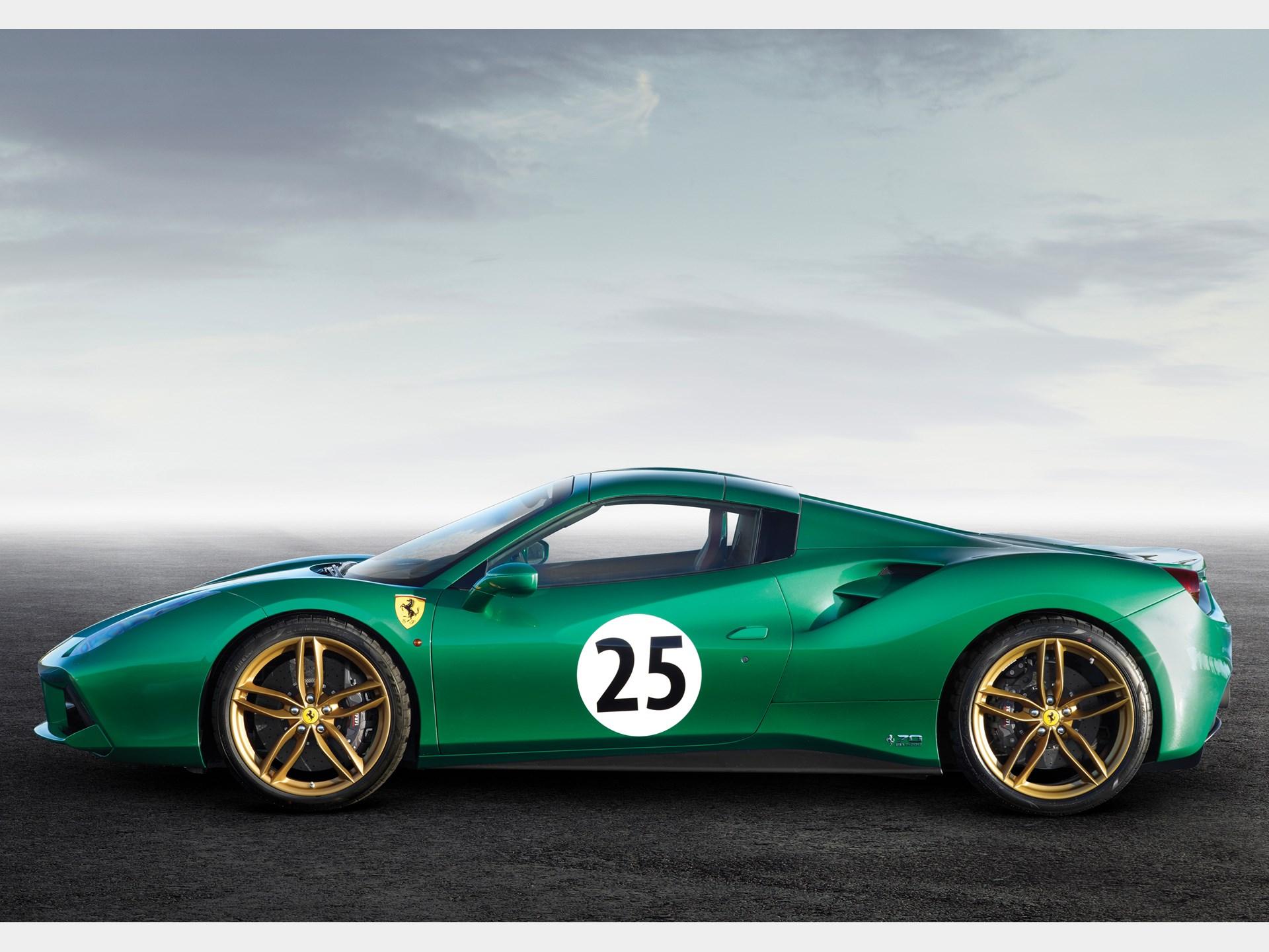 Rm Sothebys 2016 Ferrari 488 Spider Green Jewel