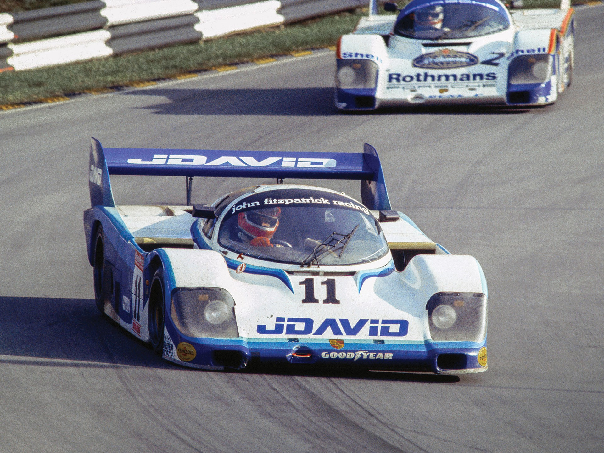 Chassis no. 956-110 at Brands Hatch in 1983.