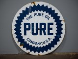 Pure Oil Double-Sided Sign - $