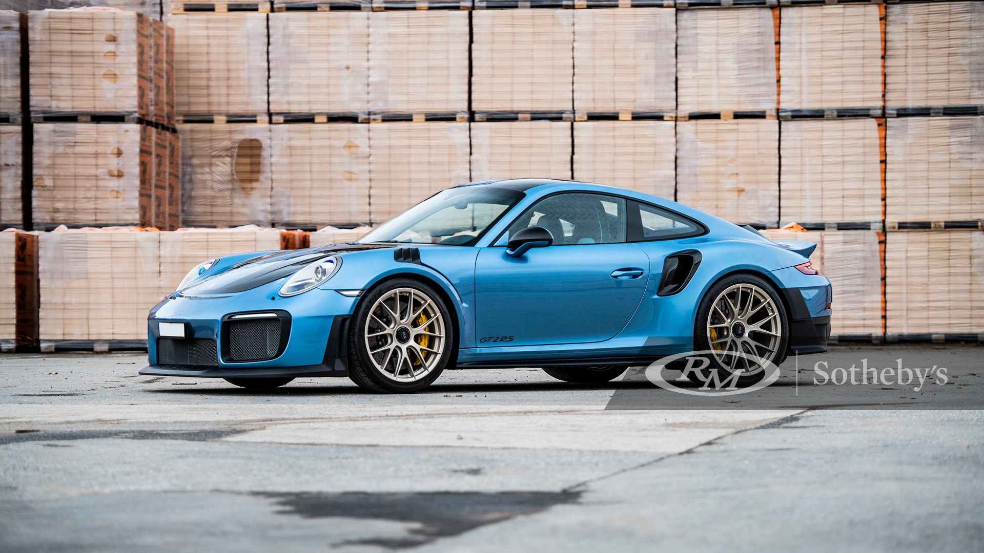 PTS Azzuro California Metallic 2018 Porsche 911 GT2 RS available at RM Sotheby's Online Only Open Roads February Auction 2021