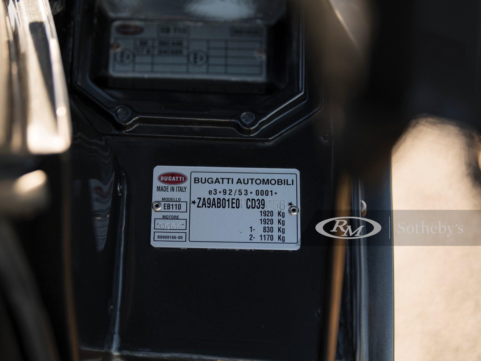 1993 Bugatti EB110 GT  -