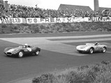 1957 Porsche 550A Spyder by Wendler - $Julius Voigt-Neilsen in 550A-0121 chases Ian Raby in his Cooper Climax at Roskilde, Denmark in June of 1957.