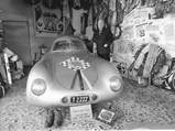 "1939 Porsche Type 64  - $Herr Mathé proudly stands next to the ""Ahnherr"" (ancestor) at his home in Innsbruck, Austria, 1984."