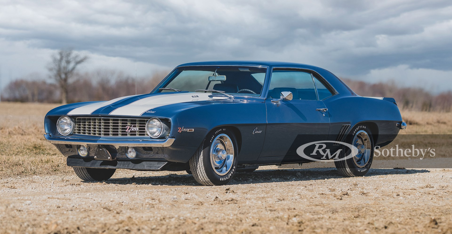 Dusk Blue 1969 Chevrolet Camaro Z28 available at RM Sotheby's Online Only Open Roads April Auction 2021