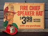 Fire Chief Speaker Hat Cardboard Sign with Hat - $