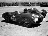 1953 Aston Martin DB3S Works  - $DB3S/2, along with DB3S/3, sits in wait before the Buenos Aires 1000 KM, 1954.