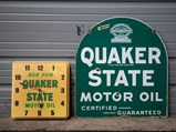 Quaker State Motor Oil Double-Sided Sign with Clock - $