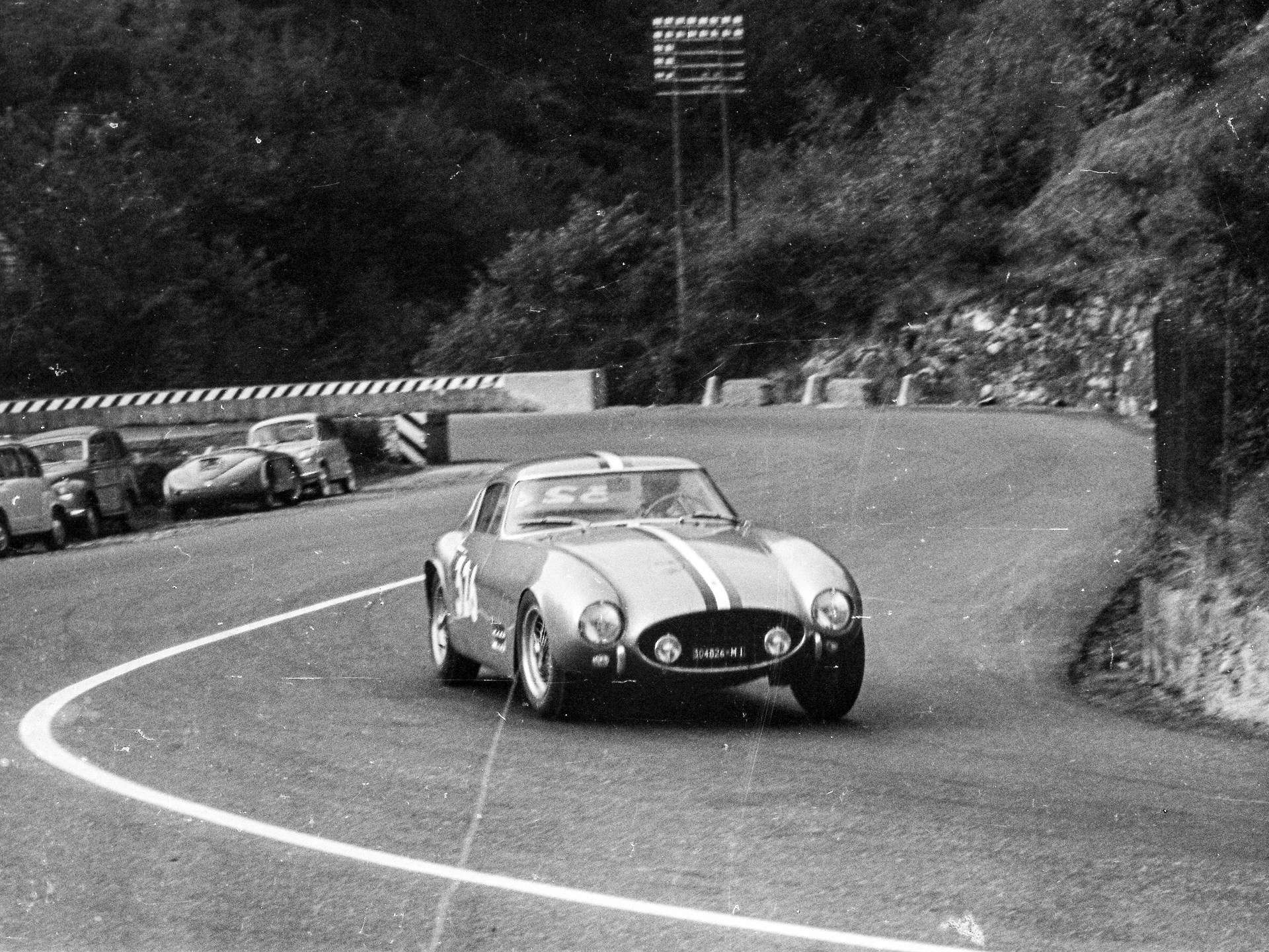 Chassis no. 0507 GT speeding towards a 3rd in class finish at the Pontedecimo-Giovi Hillclimb in 1957.