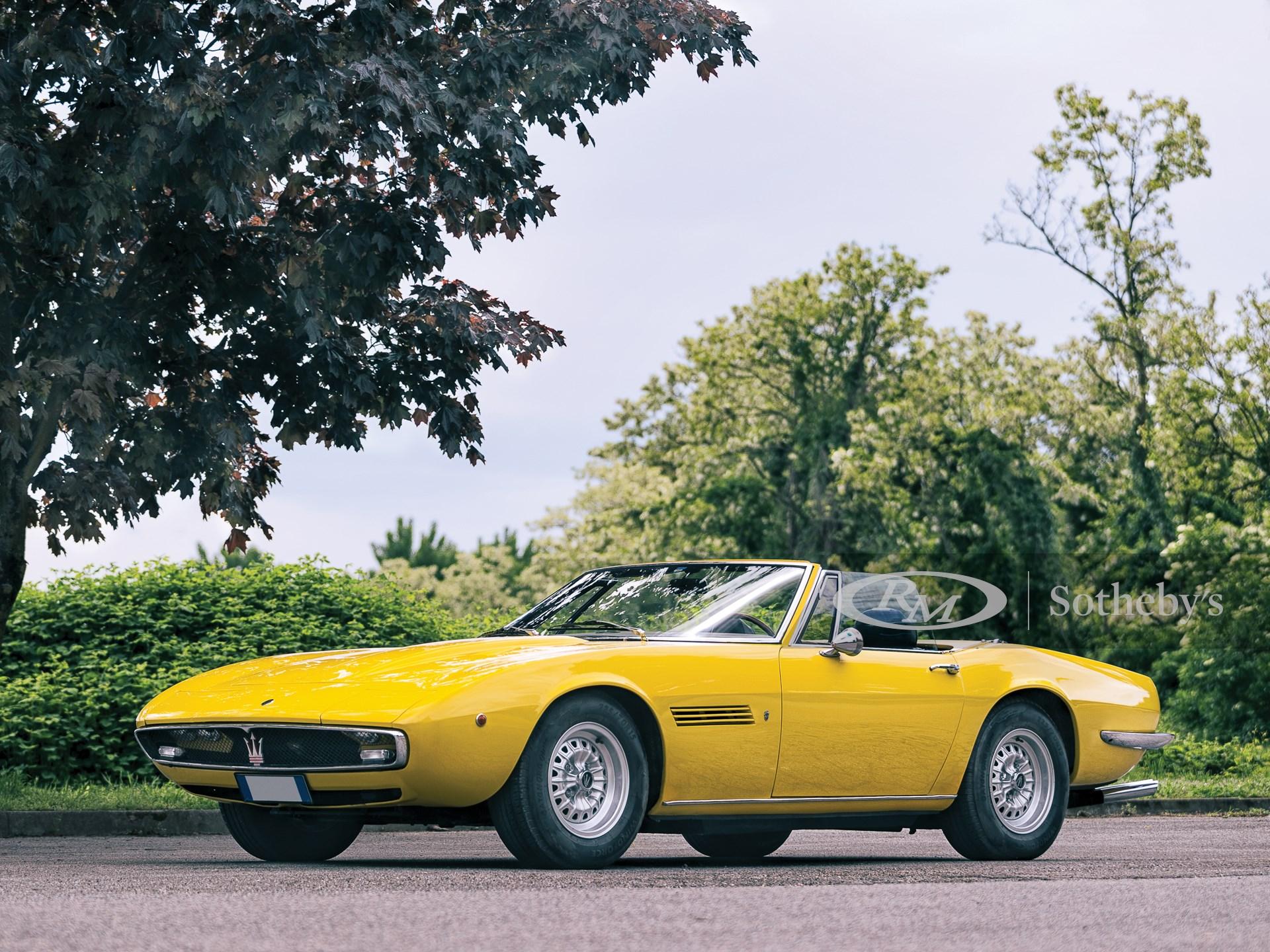 1970 Maserati Ghibli 4.7 Spyder by Ghia | Villa Erba 2019 ...