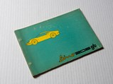 Ferrari Dino 206 GT Owner's Manual and Spare Parts Catalogue, 1968/69 - $