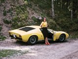 1969 Lamborghini Miura P400 S by Bertone - $One of Mr. Weber's girlfriends as photographed with the Miura near Freiburg.