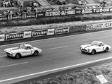 1960 Chevrolet Corvette LM  - $Cunningham's #1 leaves the start with Thompson's #2 following just behind.