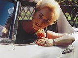 1958 BMW 507 Roadster Series II  - $Elisabeth Bartels with her new BMW 507 in 1958.