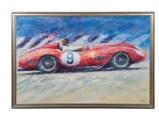 Ferrari Testa Rossa, Dan Gurney, Goodwood 1959 by Peter Hearsey - $