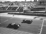 1929 Alfa Romeo 6C 1750 Super Sport  - $0312901, #2, races to the finish line against SF28 at Kyalami, ca. 1960s.