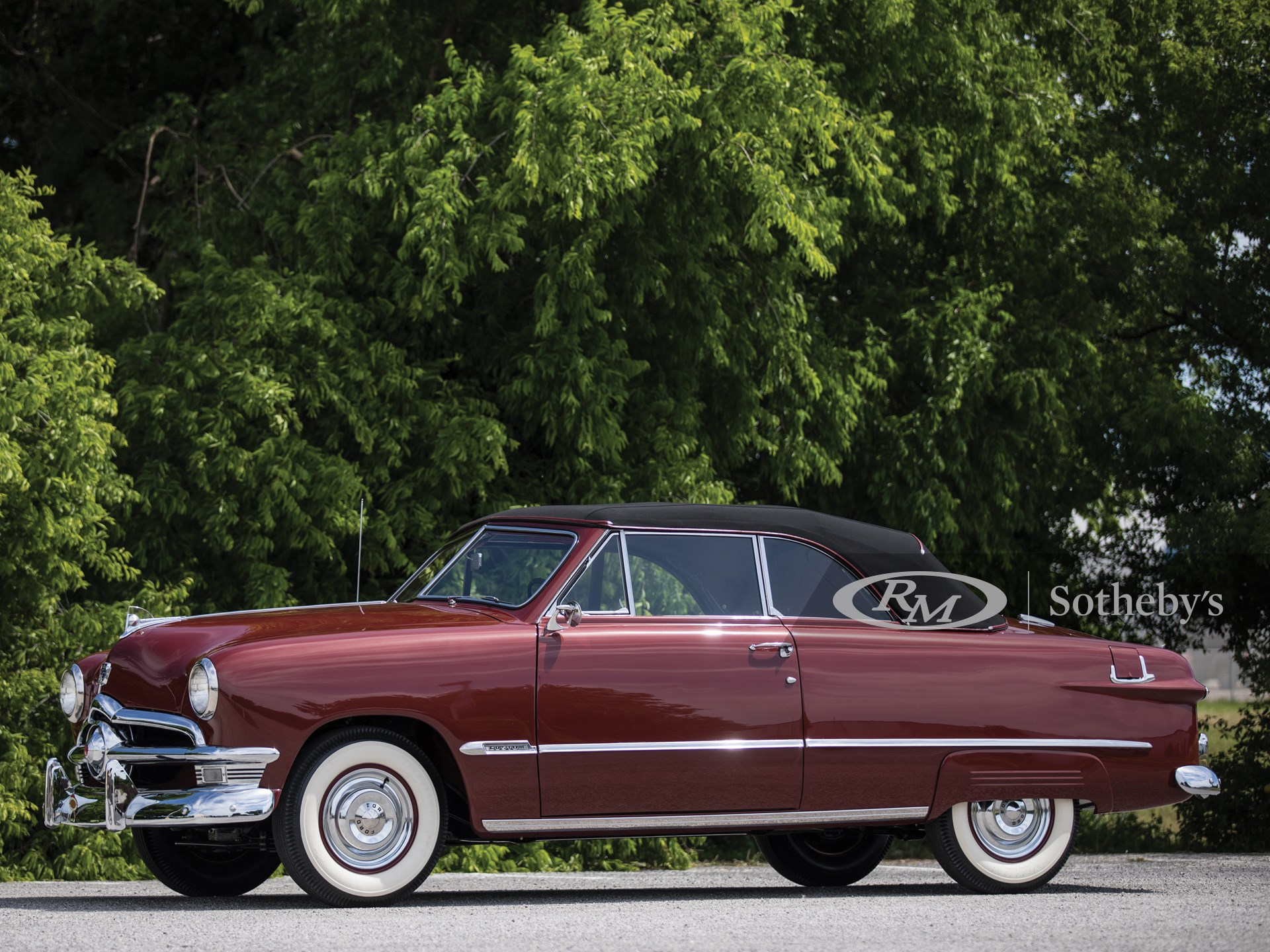 1950 Ford Custom Deluxe Convertible The Dingman Collection Rm Auctions