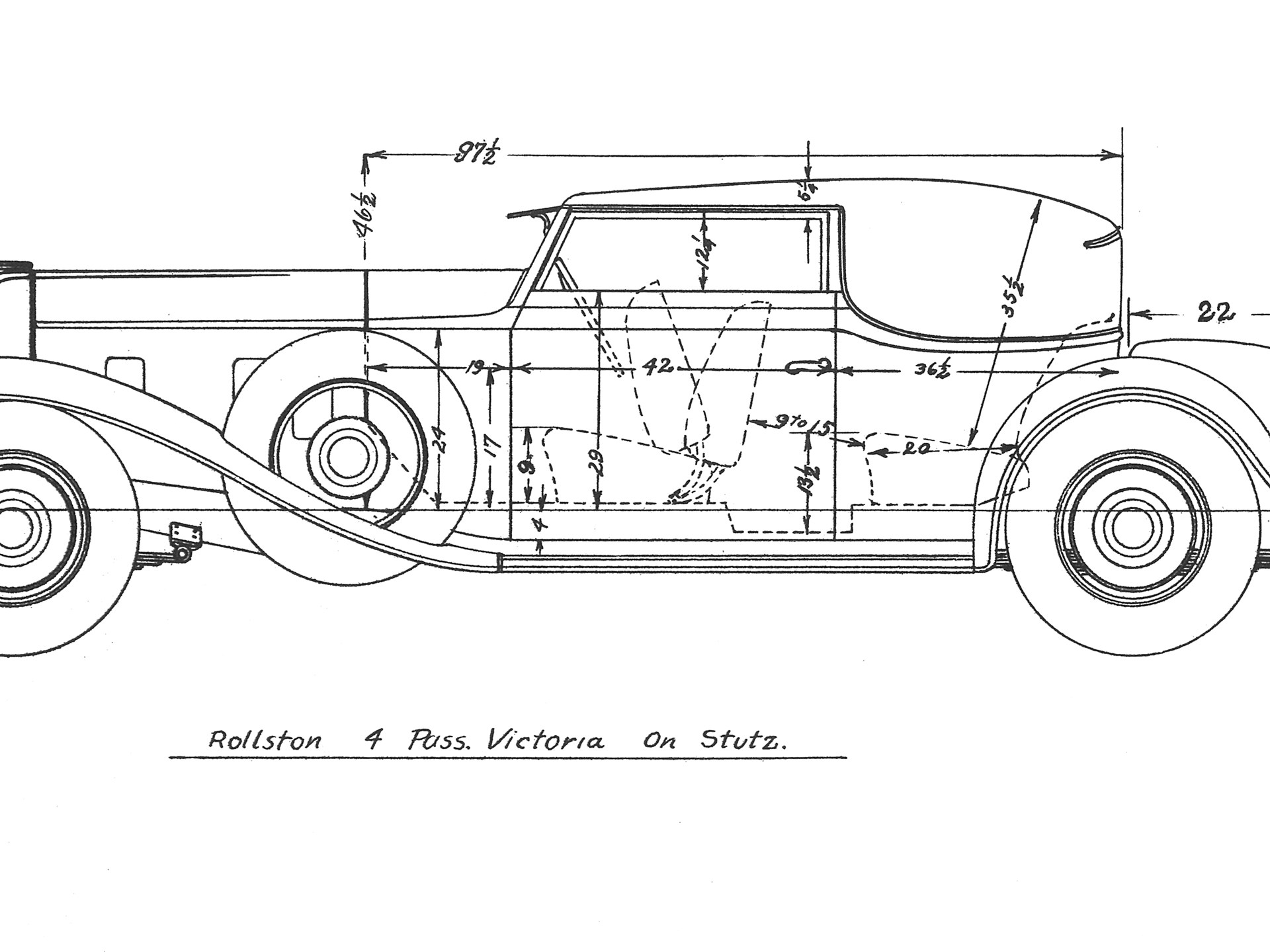 The original design drawing for body style no. 159.