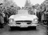 1954 Mercedes-Benz 300 SL Gullwing  - $ Olle Persson and codriver Rune Bertilsson pictured with the Gullwing at the start of the 1955 Rally of the Midnight Sun.