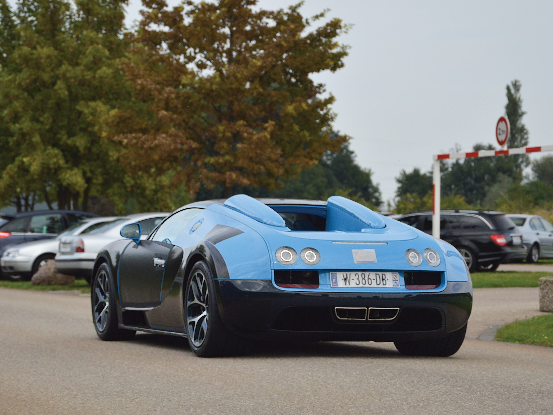 The Veyron Vitesse undergoing testing near the Bugatti factory in Molsheim, France.