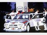 1985 Lancia Delta S4 Rally  - $Henri Toivonen and Neil Wilson shorty after winning the 1985 Lombard RAC Rally.