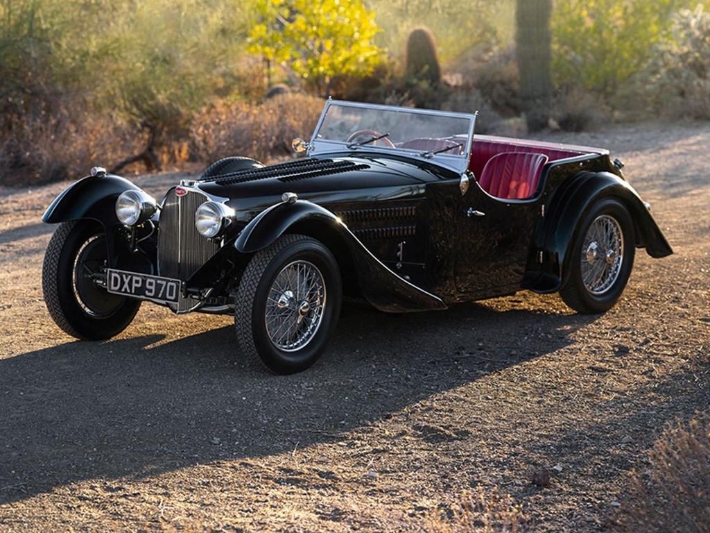 1937 Bugatti Type 57SC Tourer by Corsica offered at RM Sothebys Arizona Live Auction 2021