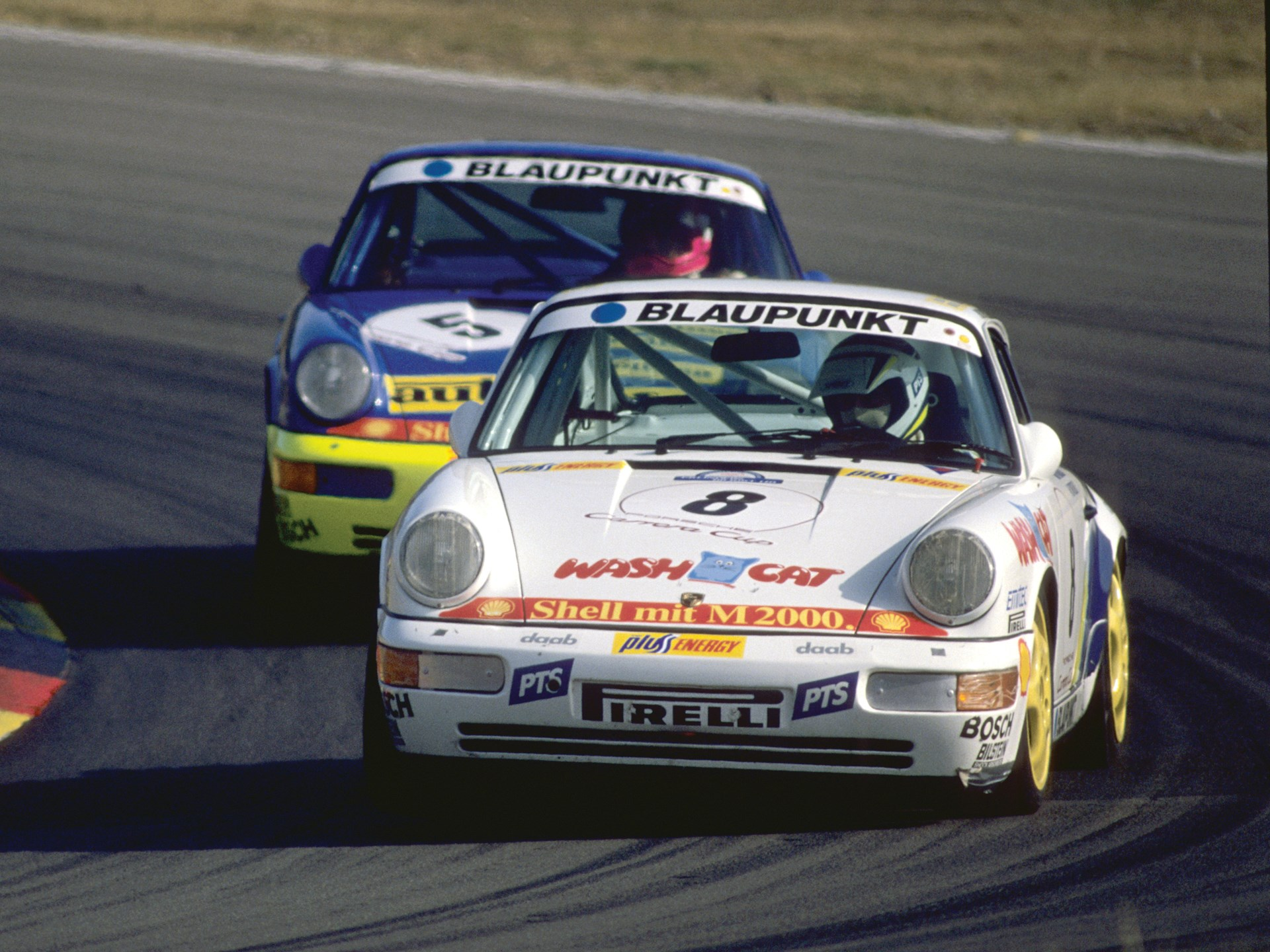 On track at the 24 Hours of the Nürburgring in 1990.