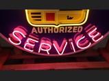 Cadillac Service Custom-Made Neon Tin Sign - $