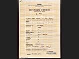 Ferrari 365 GTB/4 Certificate of Origin, Chassis No. 14281 - $