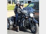 2010 Harley-Davidson FLHXXX Street Glide Trike  - $Johnny Hallyday and his wife Laeticia on their Harley-Davidson in Malibu, California in 2011.