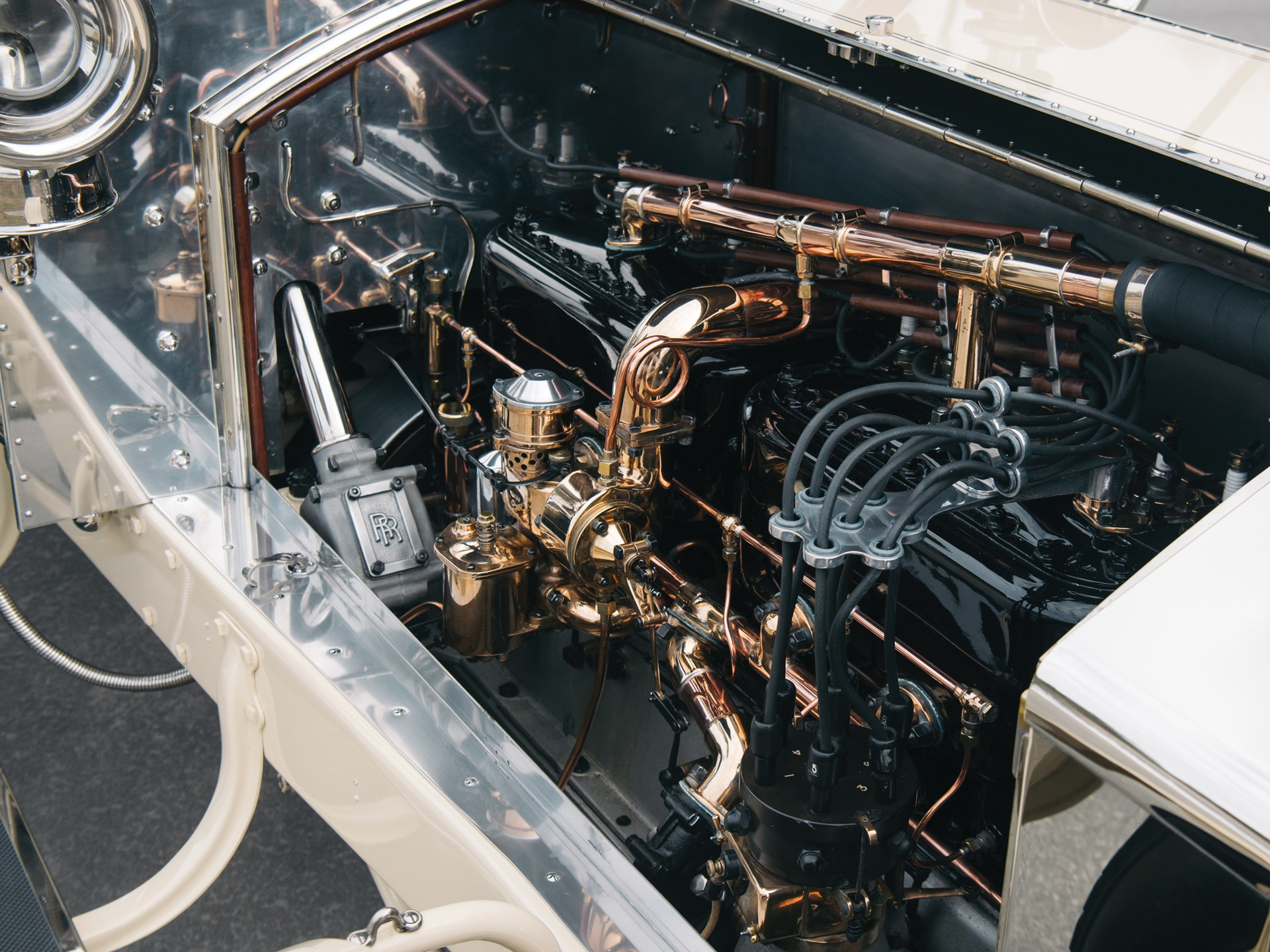 "1909 Rolls-Royce Silver Ghost Roi des Belges ""The Silver Fairy"" in the style of Barker"