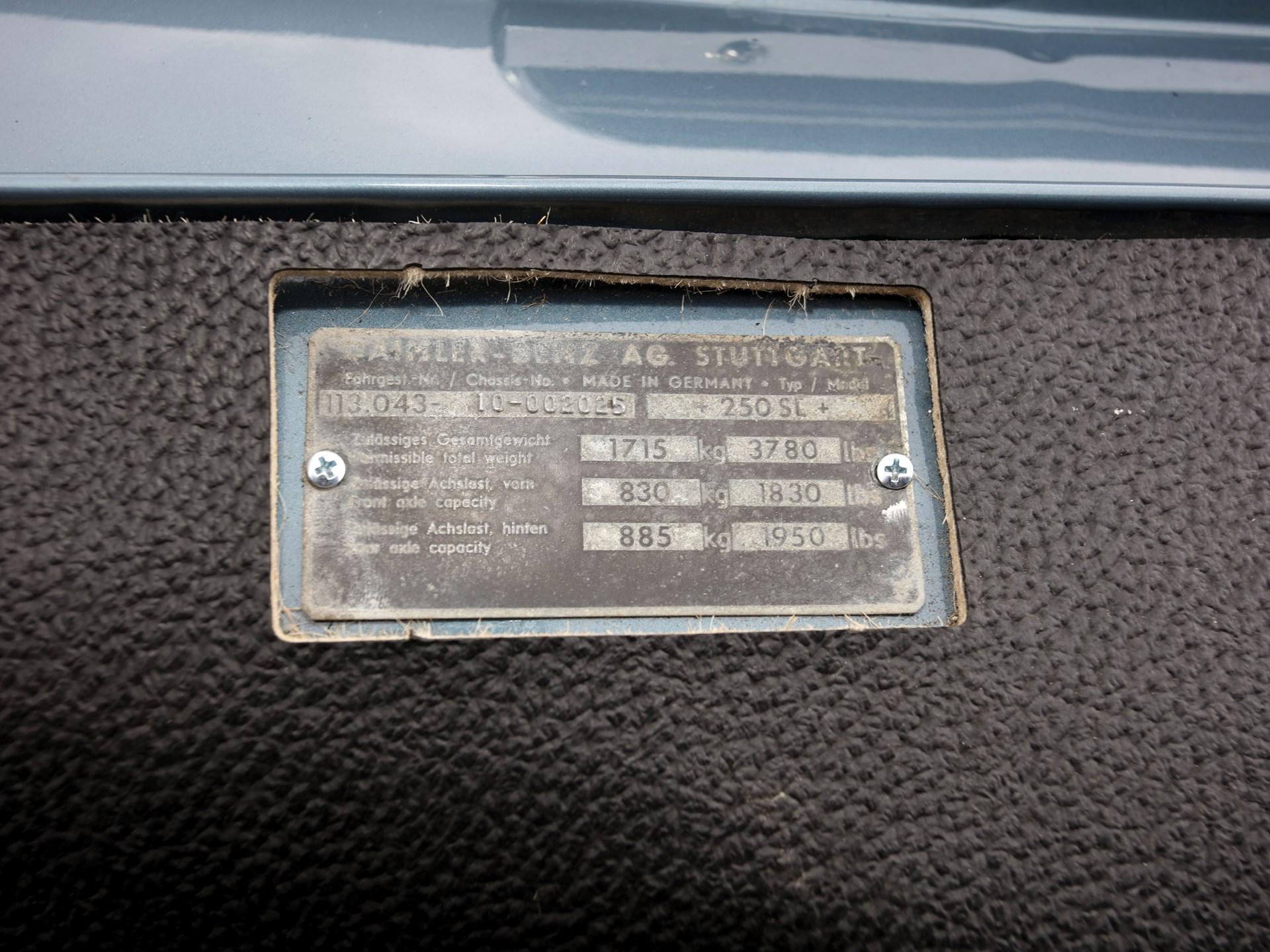 1967 Mercedes-Benz 250 SL 'Pagoda'