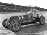 1935 Alfa Romeo Tipo C 8C 35  - $Rex Mays and mechanic Lawson Harris in chassis 50012, whose engine is now in the Giddings 8C 35, at the 1937 Indianapolis 500.