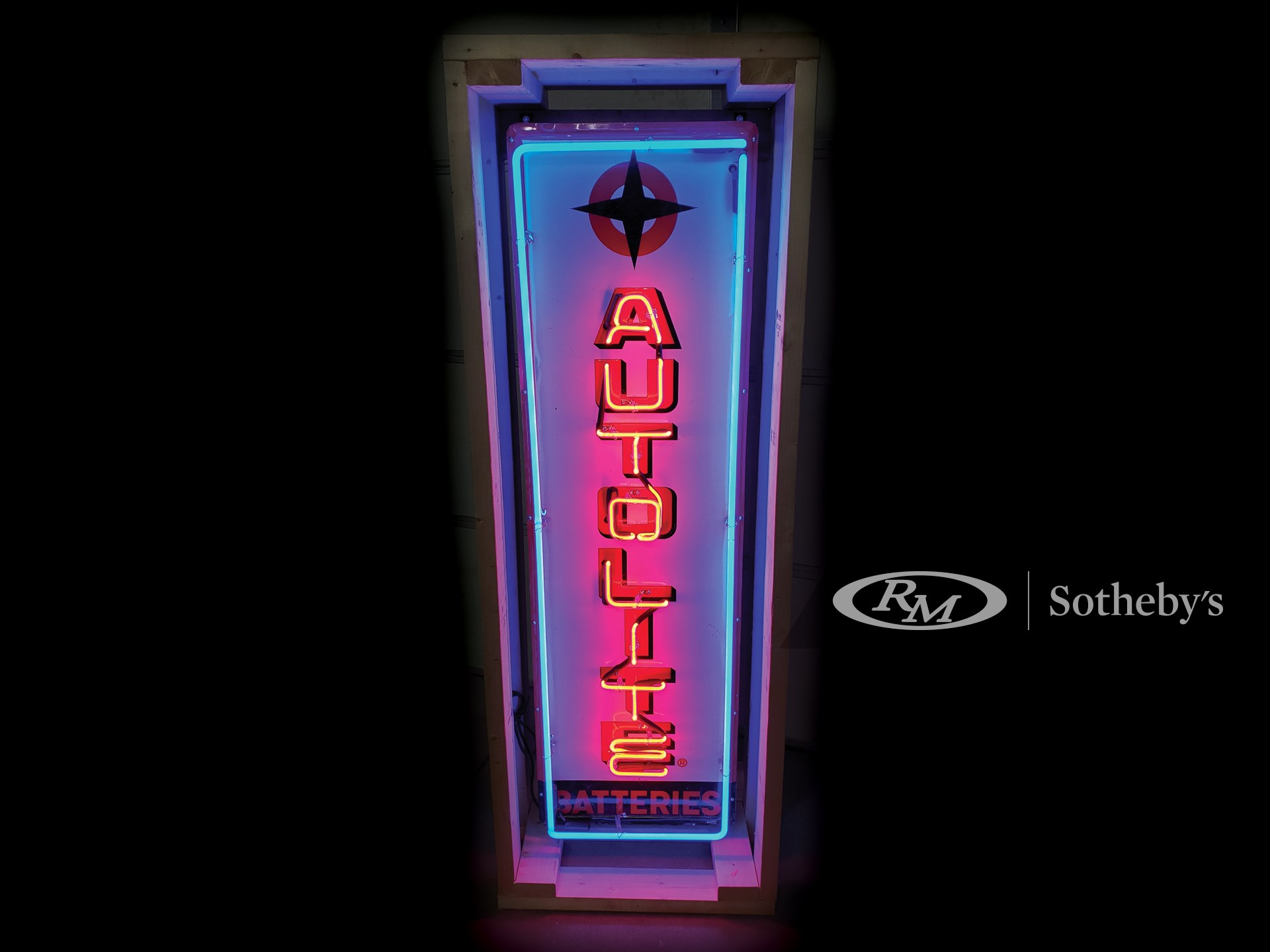 Auto-Lite Neon Tin Sign -