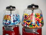 Silver King Gumball Machines on Stand - $