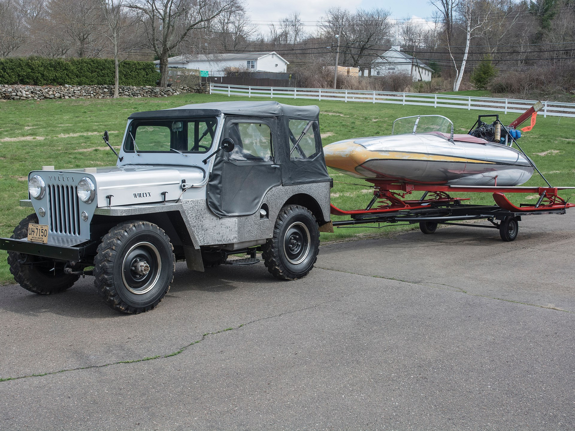 1954 Willys Jeep CJ-3B and Ice Speedster