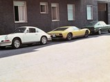 1969 Lamborghini Miura P400 S by Bertone - $The Miura as seen in Cremona, Italy with Mrs. Weber's family and Mr. Weber's Porsche 911, circa 1975.