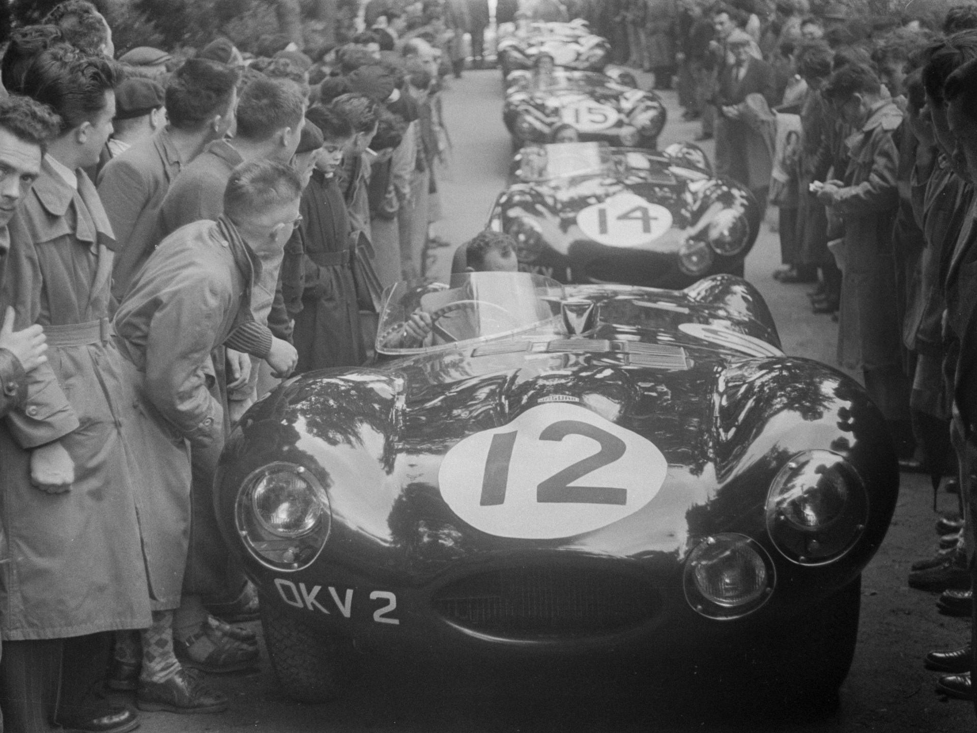 Jaguar's works D-Types prior to the 1954 24 Hours of Le Mans.