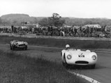 1955 Cooper-Jaguar T38 Mk II  - $Michael Head, driving HOT 95, bests Peter Blond in the Aston Martin DB3S at Goodwood in June 1957.