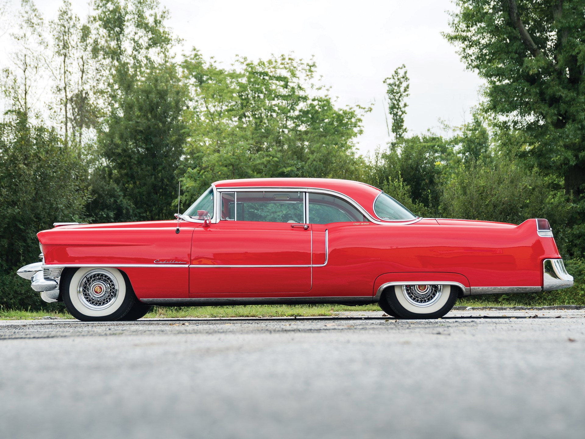Rm Sothebys 1955 Cadillac Series 62 Coupe Deville Hershey 2018