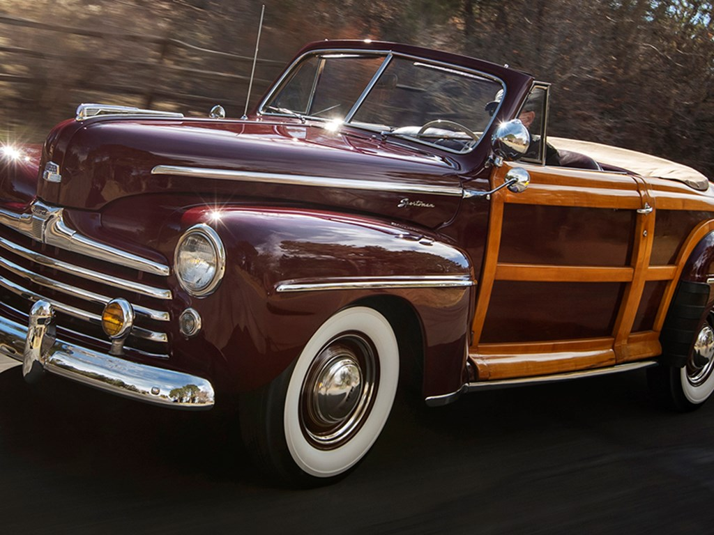 1947 Ford Super DeLuxe Sportsman Convertible available at RM Sothebys Amelia Island Live Auction 2021