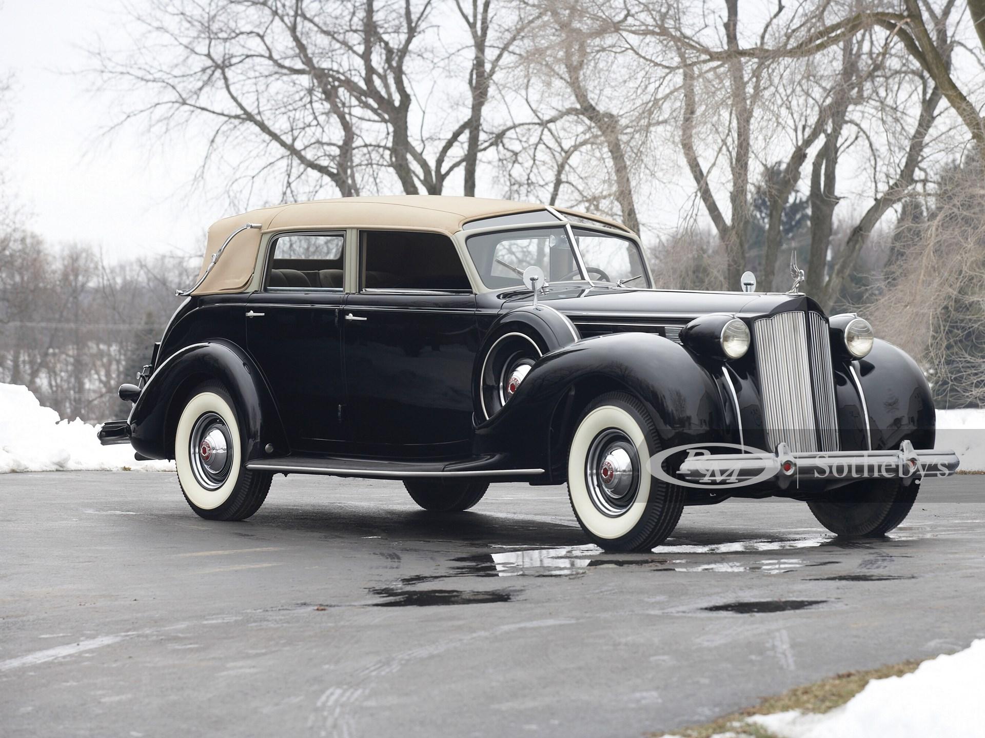 1938 Packard Twelve Brunn Touring Cabriolet