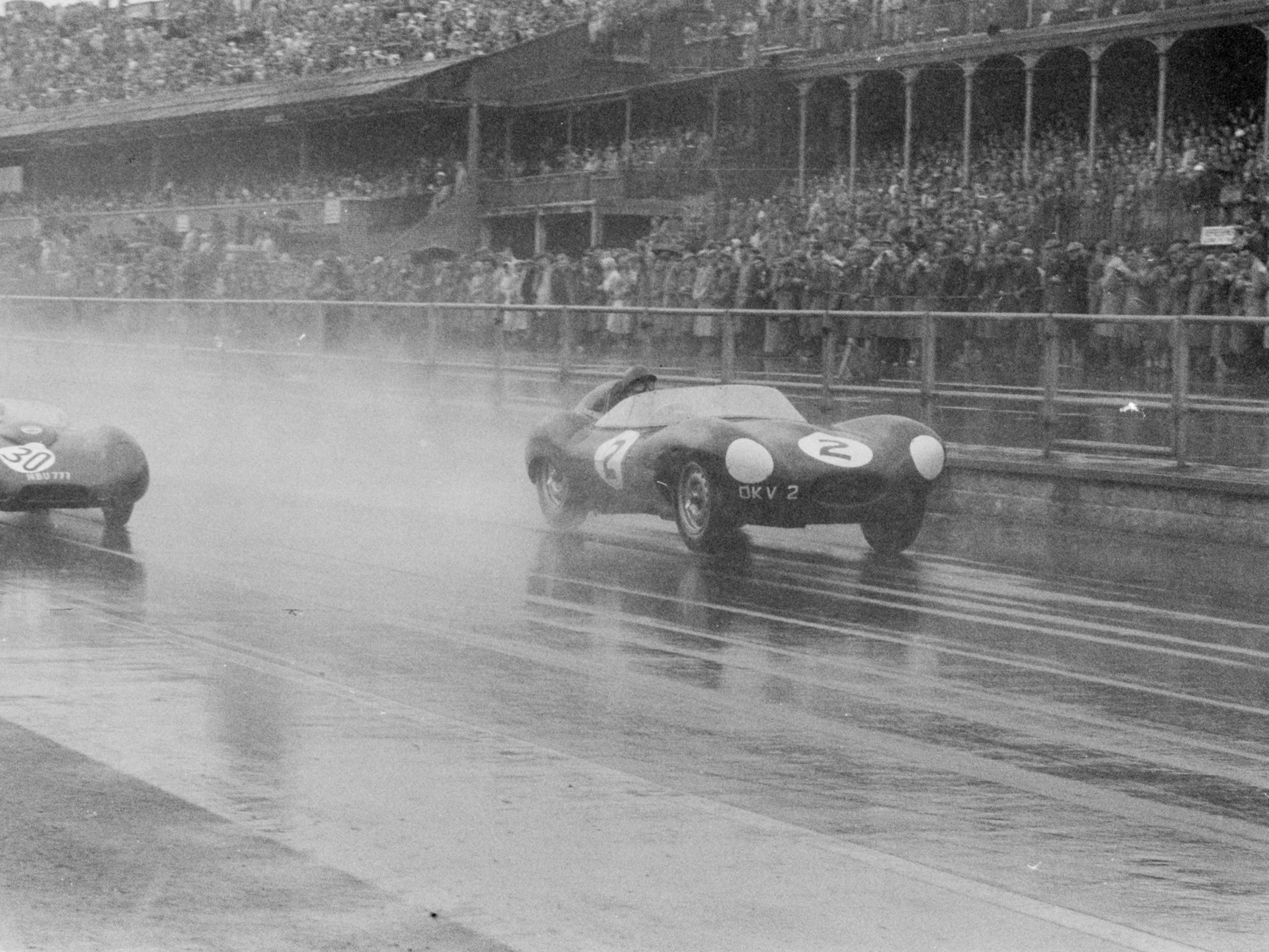 OKV 2 at the 1957 Euopean Grand Prix at Aintree with Jack Fairman.