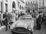 1952 Ferrari 225 S Berlinetta by Vignale - $Chassis no. 0164 ED at the start of the 1952 Mille Miglia, where it finished 10th overall and second in class.