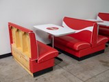 Coca-Cola-Themed Diner Tables and Benches - $