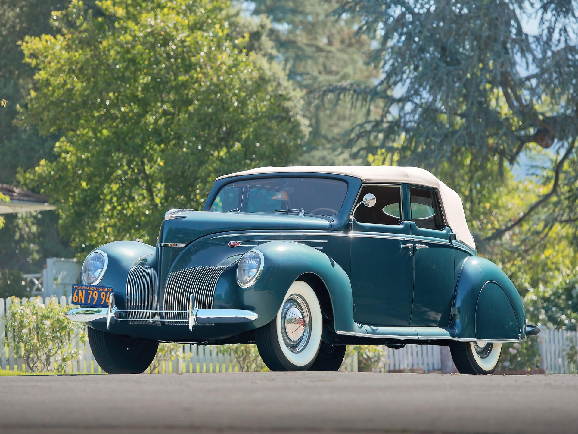 rm sotheby s 1939 lincoln zephyr convertible sedan monterey 2014 1947 Lincoln Cars 1939 lincoln zephyr convertible sedan