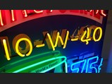 Valvoline 10-W-40 Custom-Made Neon Tin Sign - $