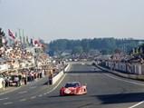 1981 Ferrari 512 BB/LM  - $The Ferrari 512 BB/LM of Scuderia Bellancauto races past the pit lanes at the 1984 24 Hours of Le Mans.